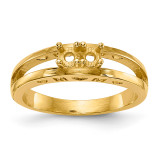 Mothers & Family 14k Yellow Gold Ring Mounting MPN: XMR71/2-7, UPC: 191101539985