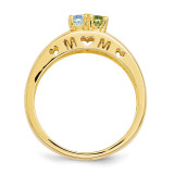 14k Yellow Gold 3mm Genuine Ring Family & Mother XMR71/2GY