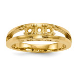 Mothers & Family 14k Yellow Gold Ring Mounting MPN: XMR71/3-7, UPC: 191101540059