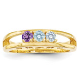 14k Yellow Gold 3mm Genuine Ring Family & Mother MPN: XMR71/3GY, UPC: 191101540066