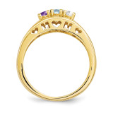 14k Yellow Gold 3mm Genuine Ring Family & Mother XMR71/3GY