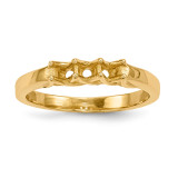 Mothers & Family 14k Yellow Gold Ring Mounting MPN: XMR83/3-7, UPC: 191101540318