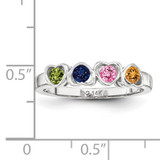14K White Gold Synthetic Ring Family & Mother XMR85/4WSY