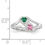 14K White Gold Genuine Ring Family & Mother XXMR64/2WGY
