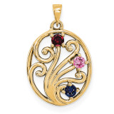 14K Yellow Gold Genuine  Family & Mother's Pendants, MPN: YM1440-3GY