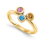 14K Yellow Gold Genuine Ring Family & Mother, MPN: YM1441-3GY