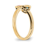 14K Yellow Gold Genuine Ring Family & Mother YM1441-3GY