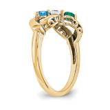 14k Yellow Gold Diamond Ring Ring Family YM1446-3AA