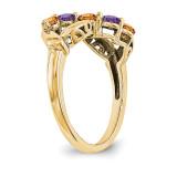 14k Yellow Gold Diamond Ring Ring Family YM1446-5AA