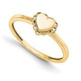 Signet Mounting Ring Band Heart 14k Yellow Gold Raw Casting Ring, MPN: YM1905-2