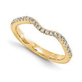 Halo Wedding Set Mounting Ring Band Prong Set Round 14k Yellow Gold Diamond, MPN: YM866-1AA