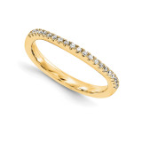 Wedding Set Mounting Ring Band Prong Set Round 14k Yellow Gold Diamond, MPN: YM870-1AA
