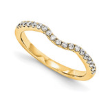 Wedding Set Mounting Ring Band Prong Set Round 14k Yellow Gold Diamond, MPN: YM872-1AA