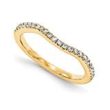 Halo Wedding Set Mounting Ring Band Prong Set Round 14k Yellow Gold Diamond, MPN: YM876-1AA
