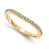 Wedding Set Mounting Ring Band Prong Set Round 14k Yellow Gold Diamond, MPN: YM884-1AA