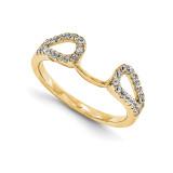 Engagement Ring Guard Wrap 14k Yellow Gold Diamond, MPN: YM890-1AA