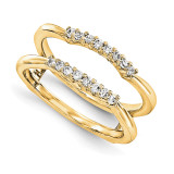 Engagement Ring Guard Wrap 14k Yellow Gold Diamond Guard, MPN: YM892-1AA