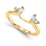 Engagement Ring Guard Wrap 14k Yellow Gold Diamond, MPN: YM893-1AAA