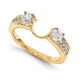 Engagement Ring Guard Wrap 14k Yellow Gold Diamond, MPN: YM908-1AA