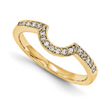 Engagement Ring Guard Wrap 14k Yellow Gold Diamond, MPN: YM909-1AA