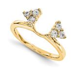 Engagement Ring Guard Wrap 14k Yellow Gold Diamond, MPN: YM910-1AA