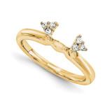 Engagement Ring Guard Wrap 14k Yellow Gold Diamond, MPN: YM911-1AA