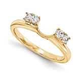 Engagement Ring Guard Wrap 14k Yellow Gold Diamond, MPN: YM912-1AA
