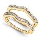 Engagement Ring Guard Wrap 14k Yellow Gold Diamond Guard, MPN: YM918-1AA