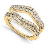 Engagement Ring Guard Wrap 14k Yellow Gold Diamond Guard, MPN: YM919-1AA