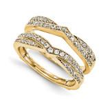 Engagement Ring Guard Wrap 14k Yellow Gold Diamond Guard, MPN: YM921-1AA