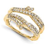 Engagement Ring Guard Wrap 14k Yellow Gold Diamond Guard, MPN: YM923-1AA
