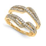 Engagement Ring Guard Wrap 14k Yellow Gold Diamond Guard, MPN: YM924-1AA