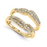 Engagement Ring Guard Wrap 14k Yellow Gold Diamond Guard, MPN: YM927-1AA