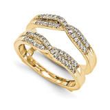 Engagement Ring Guard Wrap 14k Yellow Gold Diamond Guard, MPN: YM929-1AA