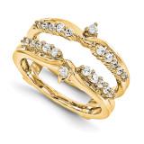 Engagement Ring Guard Wrap 14k Yellow Gold Diamond Guard, MPN: YM933-1AA