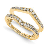 Engagement Ring Guard Wrap 14k Yellow Gold Diamond Guard, MPN: YM936-1AA