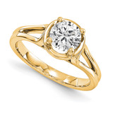 Solitaires Mounting Ring Band Prong Set Round 14k Yellow Gold Diamond Engagement Ring, MPN: YM938-1AA