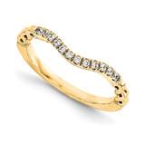 Wedding Set Mounting Ring Band Peg Set 14k Yellow Gold Diamond, MPN: YM948-1AA