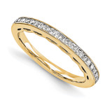 Wedding Diamond Bands 3 Stone Mounting Ring Anniversary 14k Yellow Gold Diamond, MPN: YM950-1AA