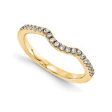 Halo Wedding Set Mounting Ring Band Prong Set Round 14k Yellow Gold Diamond, MPN: YM952-1AA