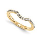Halo Wedding Set Mounting Ring Band Prong Set Round 14k Yellow Gold Diamond, MPN: YM961-1AA