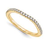 Wedding Set Mounting Ring Band Prong Set Round 14k Yellow Gold Diamond, MPN: YM976-1AA
