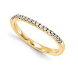 Halo Wedding Set Mounting Ring Band Prong Set Round 14k Yellow Gold Diamond, MPN: YM978-1AA