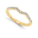 Wedding Set Mounting Ring Band Prong Set Round 14k Yellow Gold Diamond, MPN: YM980-1AA