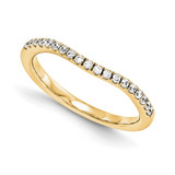 Halo Wedding Set Mounting Ring Band Prong Set Round 14k Yellow Gold Diamond, MPN: YM986-1AA