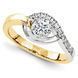 Engagement Mounting Ring Band 14K Two Tone Gold Raw Casting, MPN: YWM691-1