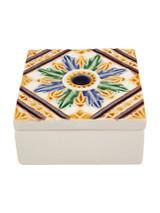 Bordallo Pinheiro Arte Bordallo Decorated Box Centred Flower MPN: 65007163 EAN: 5600876076977