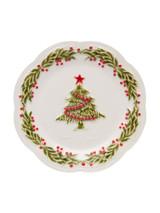 Bordallo Pinheiro Christmas  Clear Decorated Fruit Plate MPN: 65016307 EAN: 5600876071989