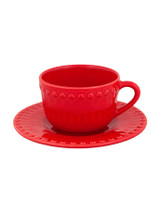Bordallo Pinheiro Fantasy Red Tea Cup and Saucer MPN: 65019148 EAN: 5600876076106