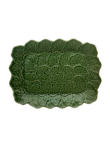 Bordallo Pinheiro Geranium Green Relief Platter MPN: 65004418 EAN: 5600876079176